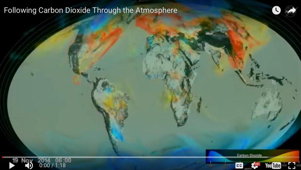 carbon dioxide map